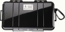 Pelican Products 1060 Micro Case Black w/transparent lid