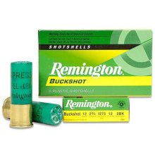 "Remington 12 Gauge 2 3/4"" 1 Oz.  #0 Buck (12 Pellets)"