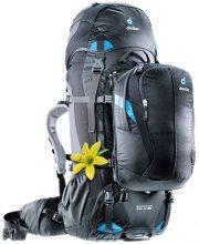 Deuter Quantum 60+10 SL Travel Backpack Black/Turquoise