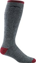 Darn Tough Men's Mountaineering Over-The-Calf Heavyweight Hiking Socks Full Cushion Large (Men's 10-12) Smoke