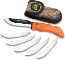 Outdoor Edge RazorBone Folding Hunting Knife with Nylon Sheath Orange RBB-20