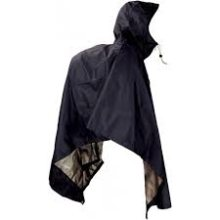 JR Gear Light Weight Waterproof Poncho Large Black