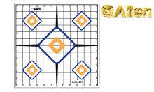 Allen Sight-In Grid Targets, 12/Pack