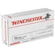 Winchester 9mm Luger 115 Grain  FMJ