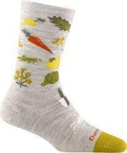 Darn Tough Women's Farmer's Market Crew Lightweight Lifestyle Socks  No Cushion Small (Women's 4.5-7) Ash