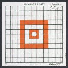 Allen 100 Yard Grid Style Sight-In Target