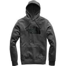 The North Face Men's Half Dome Pullover Hoody Large Asphalt Grey/TNF Black