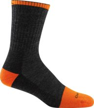 Darn Tough Men's Steely Micro Crew Midweight Work Socks Cushion Large (Men's 10-12) Graphite