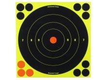 """Birchwood Casey Shoot-N-C Reactive Targets 8"""" Round / 1 Bullseye, 30/Pack"""
