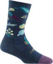 Darn Tough Women's Farmer's Market Crew Lightweight Lifestyle Socks  No Cushion Small (Women's 4.5-7) Denim