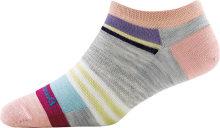 Darn Tough Women's Modern Stripe No Show Lightweight Lifestyle Socks No Cushion Large (Women's 10-11.5) Ash