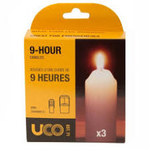 UCO 9 Hour Candles 3/Pack