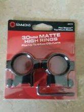 Simmons 30mm High Rings, Matte