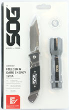 SOG Fielder & Dark Energy Knife with Flashlight Kit