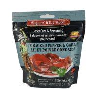 Wild West Jerky Cure & Seasoning Cracked Pepper & Garlic
