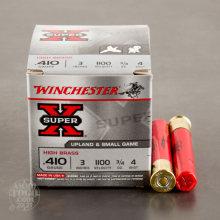 "Winchester 410 Gauge 3"" 3/4 Oz #4 Lead Shot"