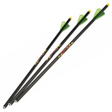 """Excalibur Diablo Carbon Crossbow Bolts 18"""", 3/Pack with Lumenok Lighted Nocks"""