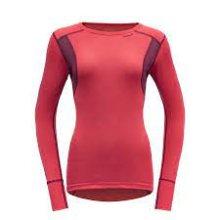 Devold Hiking Woman Shirt Small Poppy/Beetroot