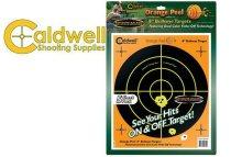 """Caldwell Orange Peel Bullseye 8"""" Target 5/Pack"""