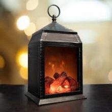 Vintage LED Fireplace Lantern