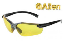 Allen Shooting Glasses 2-Tone Smoke Frame with Yellow Lens