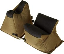 Allen Shooter's Rest Front and Rear Bag Prefilled Brown