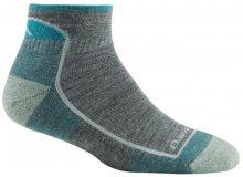 Darn Tough Women's Solid Quarter Lightweight Lifestyle Socks Cushion Large (Women's 10-11.5) Slate