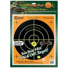 """Caldwell Orange Peel Bullseye 8"""" Target 10/Pack"""