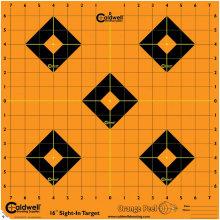 """Caldwell Orange Peel 16"""" Sight-In Target 5/Pack"""