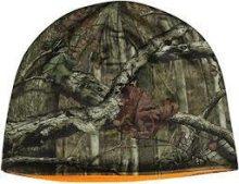 HQ Outfitters Reversible Mossy Oak/Blaze Orange Beanie