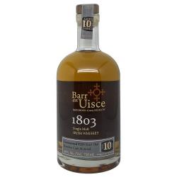 Barr an Uisce 1803 Single Malt 10 Year Old Bourbon Cask Matured