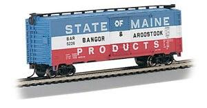 HO Scale Pullman-Standard 40' Steel Boxcar Bangor & Aroostook - 17038
