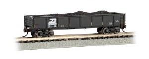 N Scale 40' Steel Gondola w/Load Burlington Northern 500043 - 17252