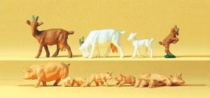 HO Scale Goats & Pigs - 14162