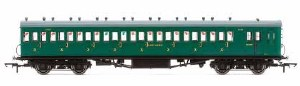 OO Scale SR, 58' Maunsell Rebuilt (Ex-LSWR 48'), Nine Compartment Third Class Coach, 320 Era 3 - R4795