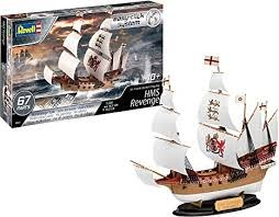 1:350 Scale HMS Revenge Sir Francis Drake's Flagship Easy-Click System - 05661