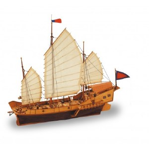 1:60 Scale Red Dragon Chinese Junk - 18020