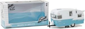 1:24 Scale Shasta 15' Airflyte White & Blue - GL18229
