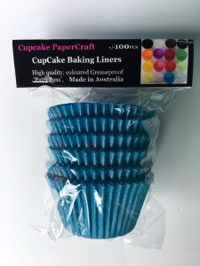 Baking Liners Blue Pk100