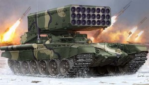 1:35 Scale Russian TOS-1A Multiple Rocket Launcher - TR05582