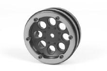 1.9 8 Hole Beadlocks Black (2pcs) - AX8087
