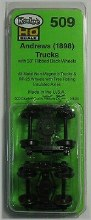 HO Scale #509 Andrews (1898) Trucks Metal Fully Sprung Equalized Trucks Mounts