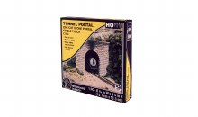 HO Scale One Cut Stone Portal Single Track - C1253
