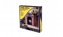 HO Scale One Timber Portal Single Track - C1254