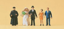 HO Scale Protestant Wedding Group - 14057