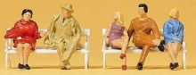 HO Scale Seated People On Benches - 14101