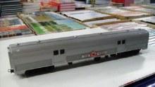 HO Scale Budd Baggage Car Silver 'The Ghan' - 2589