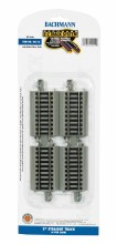 "HO Scale 3"" Straight Track (4) - 44512"
