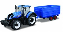 1:32 Scale New Holland Tractor & Hay Trailer - 44067