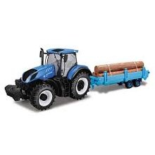 1:32 Scale New Holland T7HD Tractor + Log Trailer - 44068